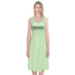 Baby Green Midi Sleeveless Dress