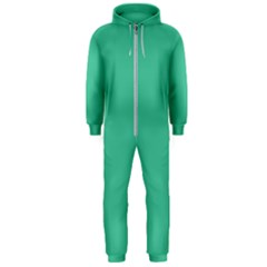 Seafoamy Green Hooded Jumpsuit (men)