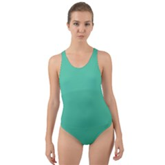 Seafoamy Green Cut Out Back One Piece Swimsuit