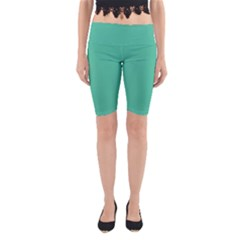 Seafoamy Green Yoga Cropped Leggings