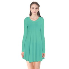 Seafoamy Green Flare Dress