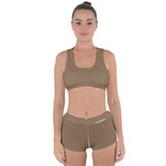 Brownish Racerback Boyleg Bikini Set