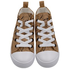 Lifestyle Pattern Kid s Mid Top Canvas Sneakers