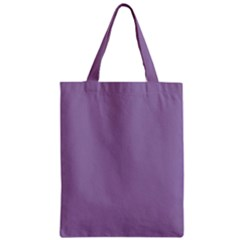 Grape Light Zipper Classic Tote Bag