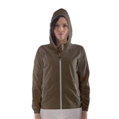 Rainy Brown Hooded Wind Breaker (women)