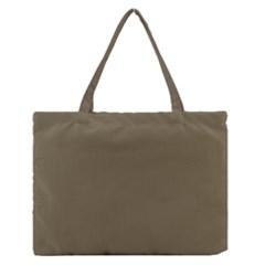 Rainy Brown Zipper Medium Tote Bag