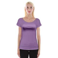 Uva Purple Cap Sleeve Tops