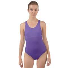 Purple Star Cut Out Back One Piece Swimsuit