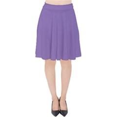 Purple Star Velvet High Waist Skirt