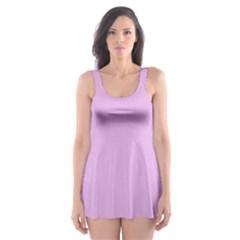 Pink Flowers Skater Dress Swimsuit