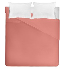 Late Peach Duvet Cover Double Side (queen Size)