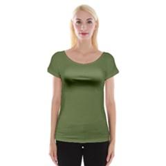 Earth Green Cap Sleeve Tops