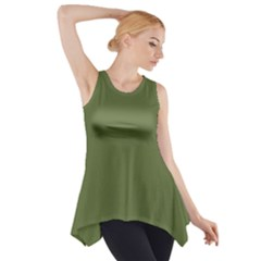 Earth Green Side Drop Tank Tunic