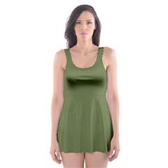 Earth Green Skater Dress Swimsuit