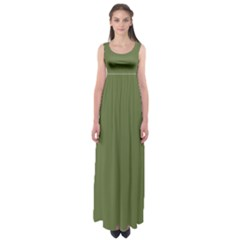 Earth Green Empire Waist Maxi Dress