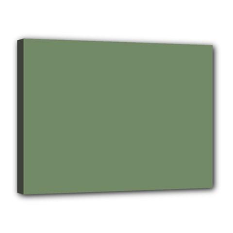 Army Green Canvas 16  X 12