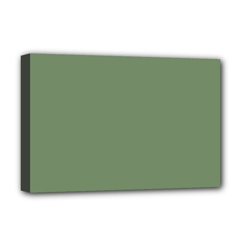 Army Green Deluxe Canvas 18  X 12