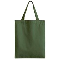 Army Green Zipper Classic Tote Bag