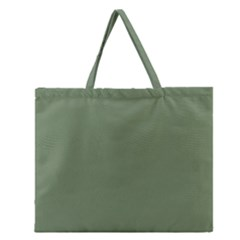 Army Green Zipper Large Tote Bag