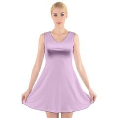 Lilac Star V Neck Sleeveless Skater Dress