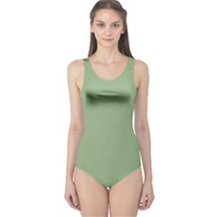 Tree Green One Piece Swimsuit