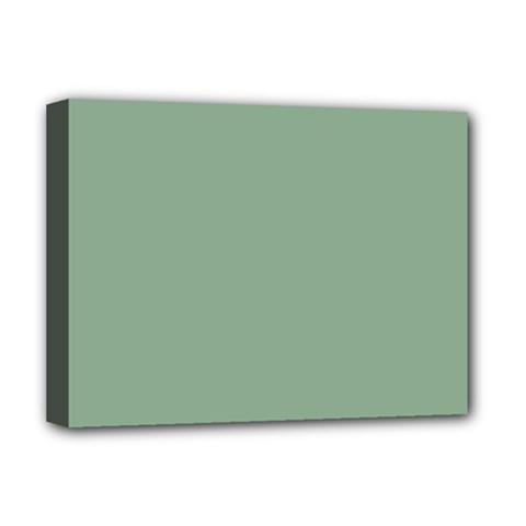 Mossy Green Deluxe Canvas 16  X 12