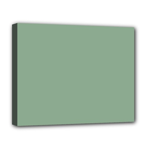 Mossy Green Deluxe Canvas 20  X 16