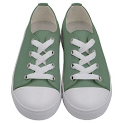 Mossy Green Kids  Low Top Canvas Sneakers