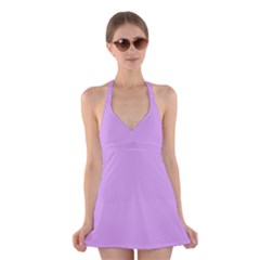 Purple Whim Halter Dress Swimsuit