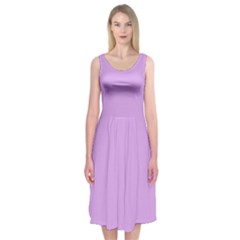 Purple Whim Midi Sleeveless Dress