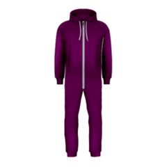 Magenta Ish Purple Hooded Jumpsuit (kids)
