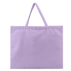 Baby Lilac Zipper Large Tote Bag