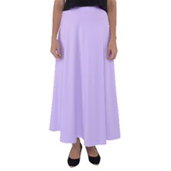 Baby Lilac Flared Maxi Skirt