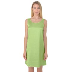 Grassy Green Sleeveless Satin Nightdress
