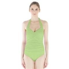 Grassy Green Halter Swimsuit