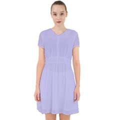 Violet Sweater Adorable In Chiffon Dress
