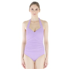 Lilac Morning Halter Swimsuit