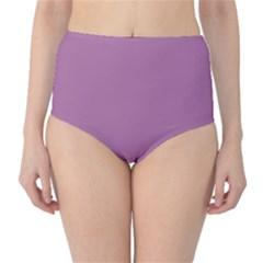 Silly Purple High Waist Bikini Bottoms