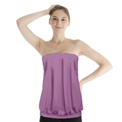 Silly Purple Strapless Top