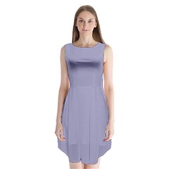 Grey Violet Sleeveless Chiffon Dress