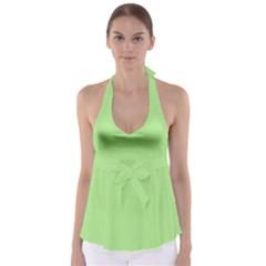 Meadow Green Babydoll Tankini Top