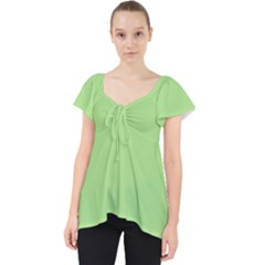Meadow Green Lace Front Dolly Top