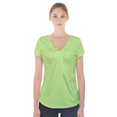 Minty Short Sleeve Front Detail Top