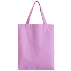 Soft Pink Zipper Classic Tote Bag