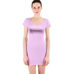 Soft Pink Short Sleeve Bodycon Dress