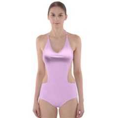 Soft Pink Cut Out One Piece Swimsuit