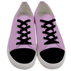 Soft Pink Men s Low Top Canvas Sneakers
