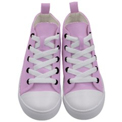 Soft Pink Kid s Mid Top Canvas Sneakers