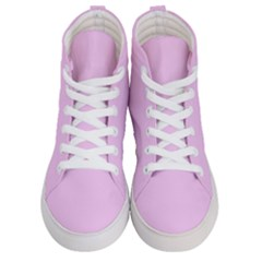 Soft Pink Men s Hi Top Skate Sneakers