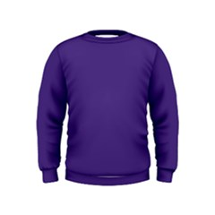 Dark Grape Purple Kids  Sweatshirt